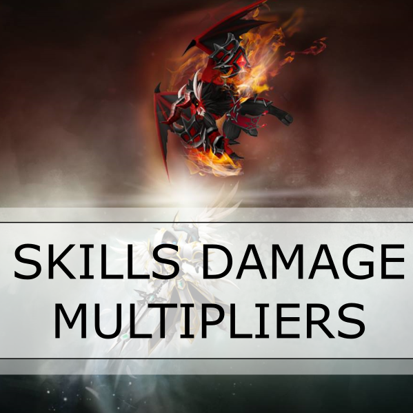 summoners war SKILLS DAMAGE MULTIPLIERS