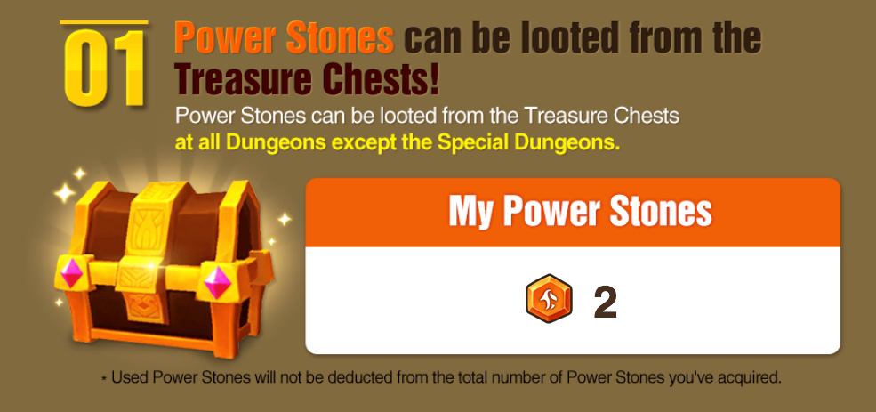 power up stones