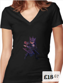 Chow Women's Fitted V-Neck T-shirt Summoners War [220x290]
