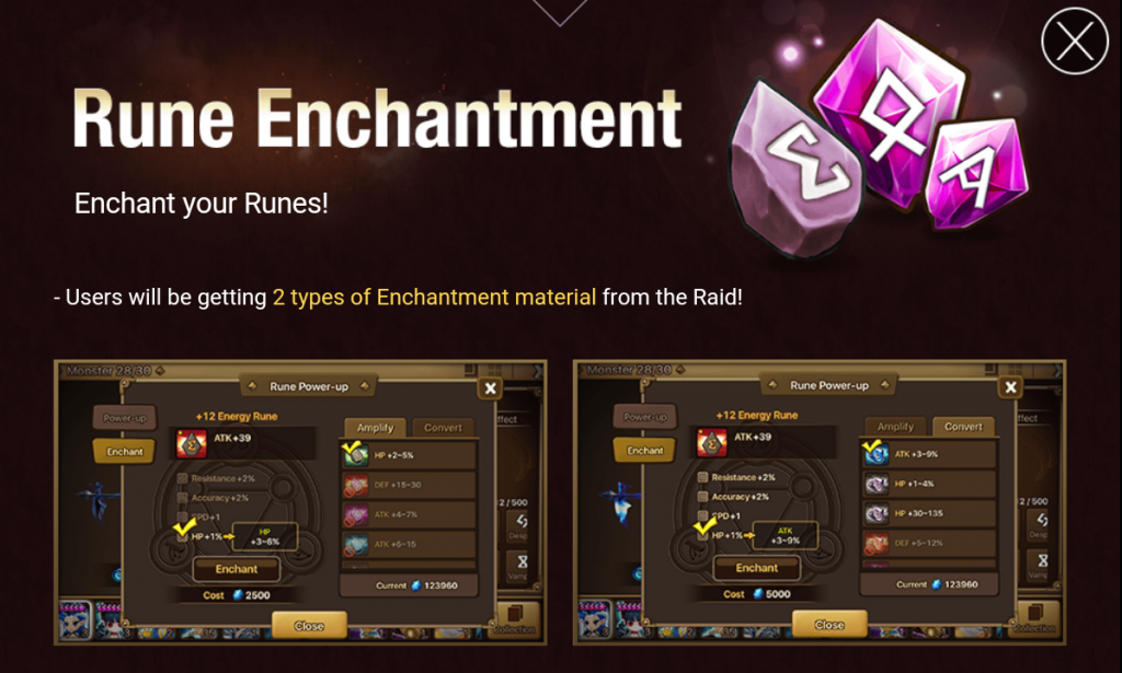summoners war rune enchantment